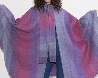 FURTHER REDUCTION was 295 now 200 gorgeous VINTAGE 60's/70's Avoca Handweavers Ireland wool full span cape coat cloak