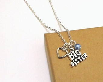 Big Sister Necklace, Big Sister Gift, Sister Necklace, Personalised Gift for Sisters, Sister Jewellery, Sister Gift