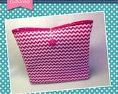 Pink Chevron Planner Sleeve (3 sizes)