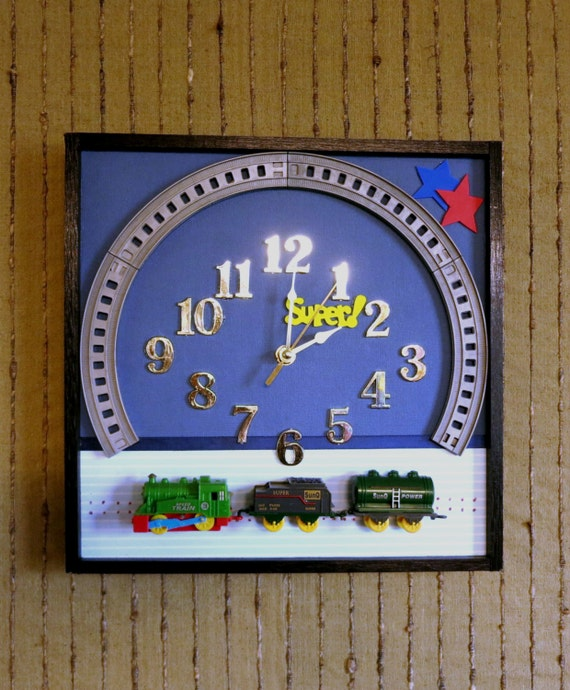 Wall Clock With Train Theme, Nursery Décor or Baby Shower Gift, First Birthday, Nchanted Gifts Australia