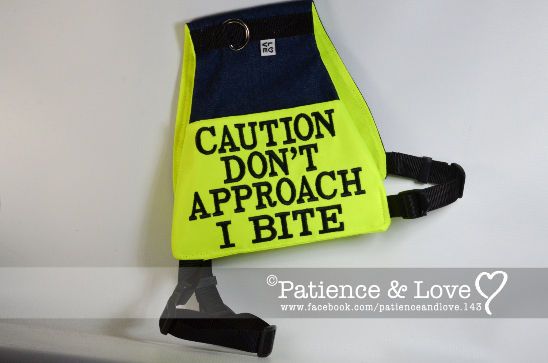 Vest For 25 To 90lb Dogs Caution Don U0026 39 T By Patienceandlove143