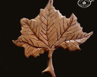 A Leaf Story  Leaf Hot Pad  or Decoration.