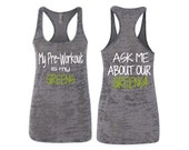 My Pre-Workout is my Greens - Blitz Wrap shirt with White and Green Print Ladies Shirt for for Women up to size 6X