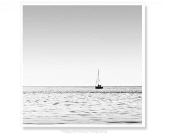 Minimalist sailboat etsy for Minimalist gifts for housewarming