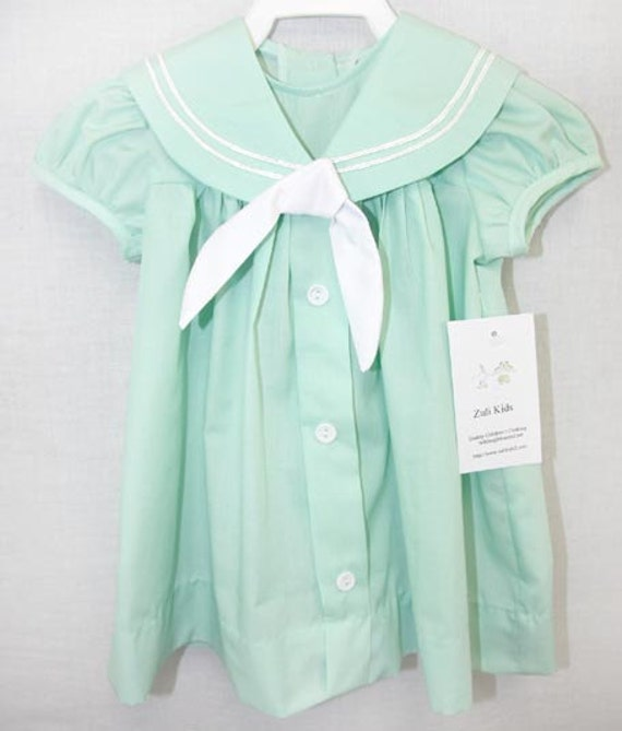 B074 Baby Sailor Dress Baby Clothes Childrens