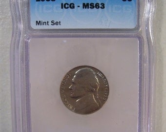 US 1958 Jefferson Nickel, ICG MS63 Coin