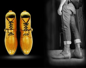 RIMBAUD Moc Toe Ankle GOODYEAR Welted BOOTS.