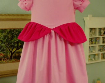 Princess Peach Dress, I will make from Size 18 months - Size 5, this is a Custom Order