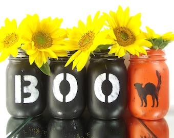 Halloween Decor, Halloween Mason Jars, Fall Decorations, Halloween Table Decor, Halloween Decorations, Tabletop Decor, Cute Home Decor