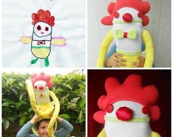 Custom Soft Doll | Design your own Zé Zezling! rag doll | Personalized Softie | Custom cloth doll | Draw your softie, plan his story id card