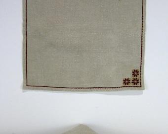 Embroidered Linen Napkins