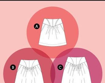 Sewaholic Sewing Pattern 'Crescent' Skirt 1950′s Style Multi Size 0-16