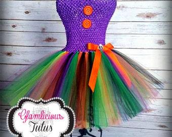 Witch tutu dress with Hat  Witch Costume   Newborn-Child 8/10 size
