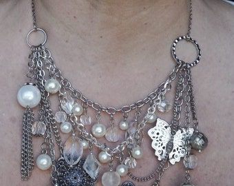 Pearl Abstract Necklace #1137