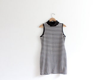 Classic Striped 90s Mini Dress