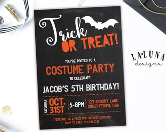 Halloween Birthday Invitation, Costume Party Invite, Halloween Party Invite, Costume Party Birthday, DIY Printable