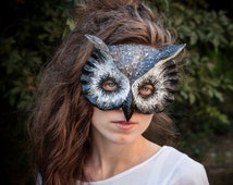 Royal Owl Bird Mask Fancy Dress Woodland Animal Head Party Mask Papier Mache Face Mask Masquerade Carnival Animal Mask