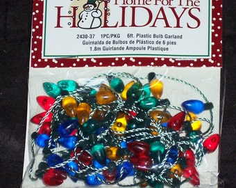 Light bulb mini garland, C7,6ft,old-fashioned lights,Christmas florals,crafts,embellishment