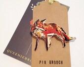 Handmade Fox pin brooch