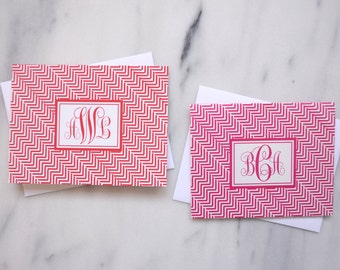 Monogram Folded Notecards {Set of 10}