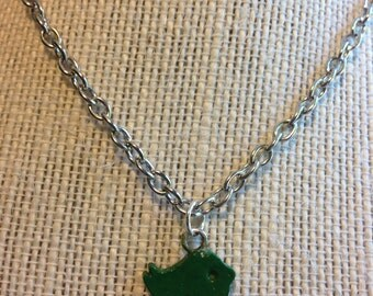 "14"" Green Dove Necklace"