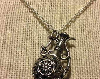 "22"" Silver TeaPot Necklace"