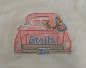 Cute Old Truck Hunting Princess Diva T-shirt