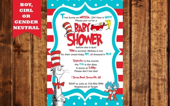 Dr. Seuss Printable Baby Shower Invitation