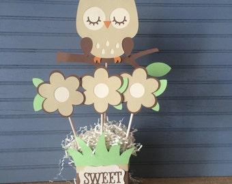 Owl Shower Centerpiece, gender neutral