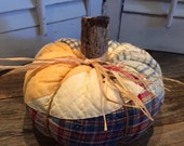 Pumpkin made from Vintage Cutter Quilt (Medium size)