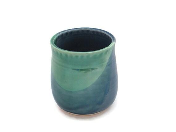 Blue green handleless coffee tea mug 16oz blue green - Handleless coffee mugs ...