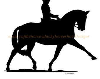 Dressage horse decal, Horse decal, Vinyl wall decal, Sport horse, 27 X 22 inches,