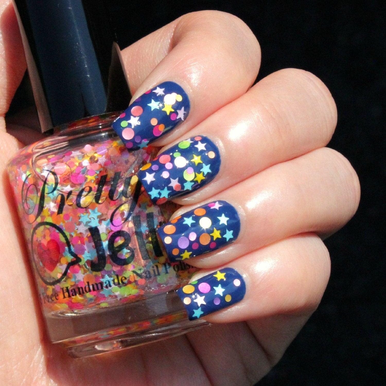 Glitter Nail Polish Buy: Glitter Nail Polish Indie Nail Lacquer Mini Star Dot Neon