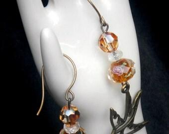 Earrings with birds
