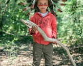 RESERVED ecnichols823 C10-For Children: Indian three colors brown Feather Headdress