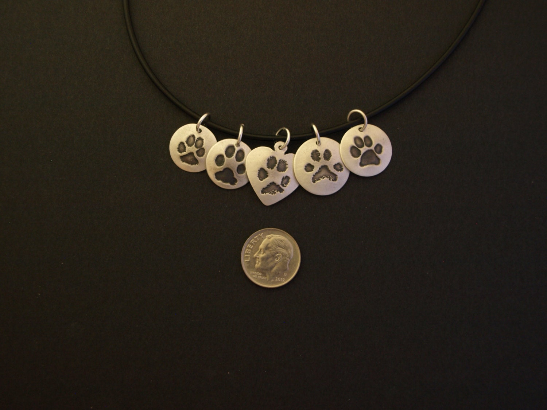 paw print necklace your pet s prints custom print