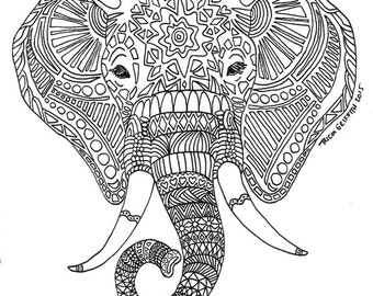 Items Similar To Printable Coloring Page Digital Download