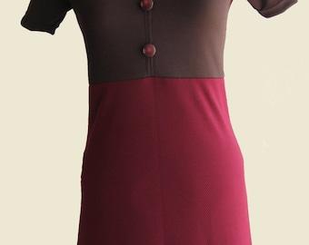 Burgundy/Brown Stretch Dress