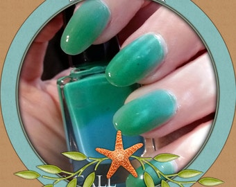 Pastel Waters - Thermal blue to green color changing nail polish