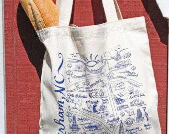 Durham Map Tote Bag