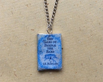 The Tales of Beedle The Bard Mini Book Necklace