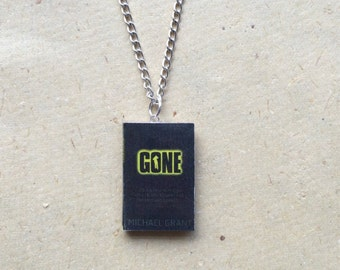 Gone Miniature Book Necklace