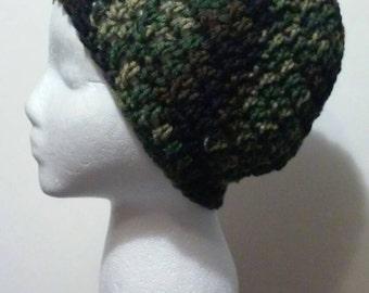 Camouflage Crochet Beanie - Ready to Ship (B33-802-1/2)