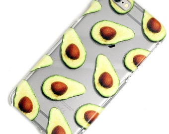 Avocado Guac Guacamole Transparent Clear Phone Case iPhone 6, 7, SE, 6 Plus, 7 Plus, 6S, 5, 5C, 5S, Galaxy S6, S7, Note 5, Note 7