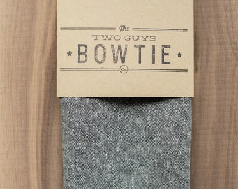 Grey Denim Fabric Pocket Square