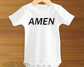 Amen Jesus Baby Bodysuit or Toddler Shirt