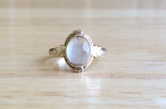 Sale vintage 10kt yellow gold moonstone ring size 5 for Orthodox wedding rings for sale
