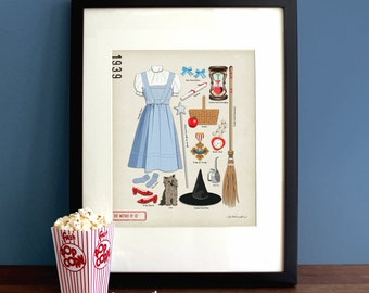 The Wizard of Oz (1939) - Dorothy Gale, Judy Garland, Movie Poster, Art Print, Illustration, Vintage Inspired Wall Art