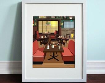 MacLaren's Pub - How I Met Your Mother, HIMYM Art Print, TV sitcom
