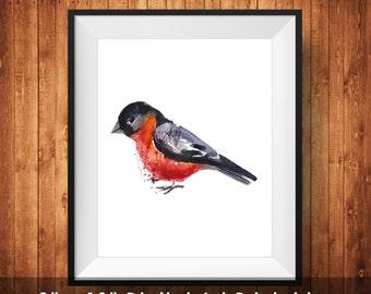 Bird Watercolor wall art printable, Inspirational, Quote, Motivation, Watercolor Bird Wall Art Printable,  wall decor, Digital Download